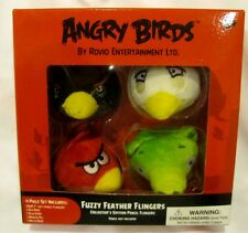 """Angry Birds & Friends 4pc 2"""" Angry Birds Fuzzy Feather Fingers Pencil Toppers"""