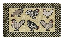 75 x 45cm  Coir Printed Door / Floor Mat Chickens / Hens. Quality Coconut Mat