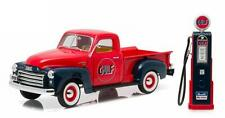 GREENLIGHT 1:18 GULF OIL 1950 GMC 150 & VINTAGE GAS PUMP DIECAST CAR 12984
