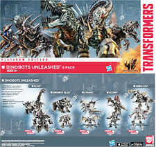 Transformers AOE 2014 Exclusve Dinobots Unleashed Metallic Chrome Complete Set