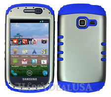 Hybrid Silicone Cover Case for Samsung Galaxy Centura S738c R RB/Gray