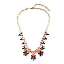 NEW Urban Anthropologie Grande Zandra Pastel Orange Gemmed Necklace