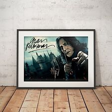 Harry Potter Snape Alan Rickman Signed  - A4 Glossy Poster - FREE Shipping