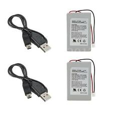2x 1800mAh Replacement Battery Pack for SONY PS3 Controller +USB Charger Cable