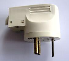 Fiche 2 x 20 Amp + Terre pour raccordement plaques ou cuisinière électrique.