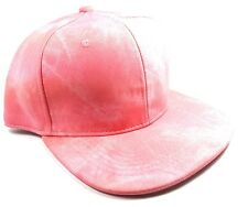 PU SUEDE PLAIN BLANK SOLID PEACH PINK SALMON SNAPBACK HAT CAP ADJUSTABLE CORAL