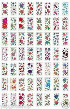 Wholesale 96-pcs flower tattoos tattoo, 96 Flower/Rose Temporary Tattoos 0.39/pc