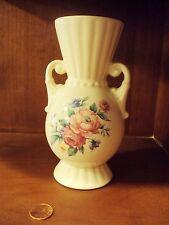 Royal Copley Pitcher Vase Rose Pattern