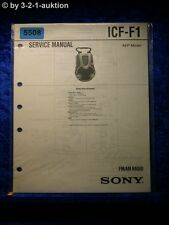Sony Service Manual ICF F1 Radio (#5508)