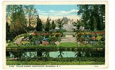 Rhinebeck NY -ITALIAN GARDENS AT VINCENT ASTOR MANSION ON HUDSON RIVER- Postcard