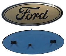 """2005-2014 Ford F-150 F-250 FRONT GRILLE & REAR TAILGATE 9"""" Brown Oval Emblem"""