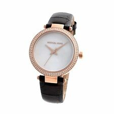 MICHAEL KORS, LADIES 33MM PARKER MOP FACE, CRYSTAL WATCH, NIB/TAGS, MODEL MK2591