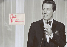 ANDY WILLIAMS Signed 12x8 Photo Display MOON RIVER COA