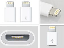 2pc for iphone 5 5C 6 mini 8pin to micro USB charger convertre adapter white