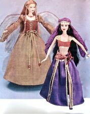 "Simplicity 4696 11.5"" Fashion Doll Pattern Gypsy Fairy Angel Harem Medieval"