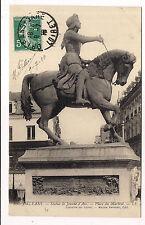 orléans ,  statue de jeanne d'arc , place du martroi -