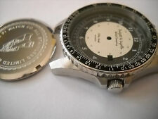 "Stainless Pilot Men's Watch Case ""Kitty Hawk"" ETA 2824-2 W/ 2 Tone Military Dial"