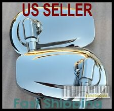 Pair Chrome Mirrors Tear Drop - Honda Rebel 250 CMX250 CMX450 Magna Nighthawk VT