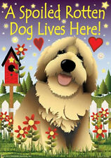 "A SPOILED ROTTEN DOG LIVES HERE LARGE GARDEN FLAG 24"" X 36"""