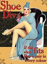 Shoe Diva If The Shoe Fits Buy A Pair Every Colour  funny fridge magnet   (og)