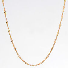 Kids Girls 18K Gold Filled Twisted Link Singapore Chain Necklace Jewellery 14""