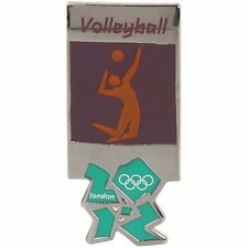 2012 London Olympics official pictogram VOLLEYBALL PIN badge - mint in package