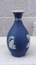 Excellent Wedgwood Blue & White Jasper Vase (1)