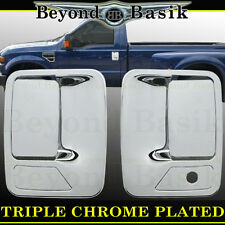 1999-2016 FORD F250 F350 F450 F550 Chrome Door Handle COVERS WithOut Psgr Key
