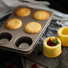 6Pcs Metal Nonstick Cupcake Baking Mold Pan Tray Tin Cake Pudding Muffin Mould
