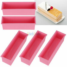 5PCS L Rectangle Brick Soap Toast Bread Loaf Cake Silicone Mold Bakeware 1.2L