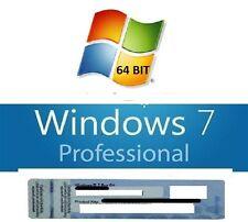 Windows 7 pro 64 bits SP1 licence d'activation 100% authentique + dvd d'install