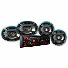Pioneer Built In Bluetooth Car Stereo Speaker Receiver USB AUX Inputs Bundle new