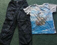 Boys H&M Pirate Ship Navy/Light Blue 8-9 yrs Shirt & 7-8 yrs Pants Set