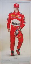 MICHAEL SCHUMACHER - 2000 WORLD CHAMPION LIMITED EDITION POSTER  SIGNED