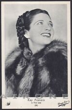 KAY FRANCIS 04 ATTRICE ACTRESS CINEMA - PELLICCIA FUR Cartolina Ediz. ELAH n° 25
