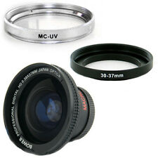 Bower 30mm 0.38x Wide Fisheye Lens, Filter for SONY HANDYCAM DCR-SR45 Camcorder