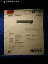 Sony Service Manual CDP XE800 CD Player (#1702)