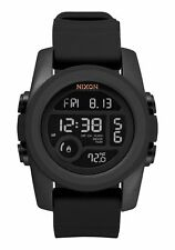 Nixon Unit 40 Digital Watch Black NIB Temperature Gauge Alarm