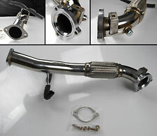 """STAINLESS STEEL EXHAUST DOWNPIPE DOWN PIPE 3"""" FOR FORD FOCUS ST 2.5 ST225"""