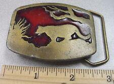 Vintage 1977 Puma, Cougar or Lion Belt Buckle - Indian Metal Craft
