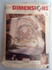 Dimensions Debbie Mumm Quilt Welcome Santa Christmas Cross Stitch Kit  NEW FR SH