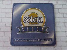 Beer Coaster    Empresas Polar Solera Sifon Premium Lager    Caracas, Venezuela
