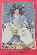 Craft Pattern Country Doll Miss Weezie & LaLa Country Nanny Baby Finders Keepers