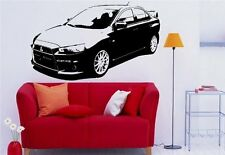 Wall MURAL Vinyl Sticker Car MITSUBISHI LANCER X s 1375