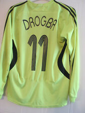 Chelsea 2007-2008 Drogba 11 CL Away LS Football Shirt Size Small /35415