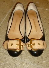 Pretty GIUSEPPE ZANOTTI Patent Leather Buckle Strap Flats Shoes 8 1/2 B