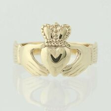 Irish Claddagh Ring - 9k Yellow Gold Love, Friendship, Wedding Made in Ireland