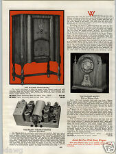 1931 PAPER AD 2 Sided Wagner Radio Record Player Console Minuet Clock