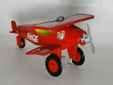Air plane Pedal Car WW1 Vintage Red Two Wing Aircraft Midget Metal Show Model