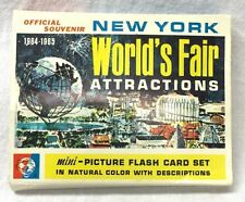 New York Worlds Fair Mini-Picture Flash Card Set 24 Pc. 1964-65